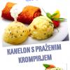 Kanelon s praženim krompirjem in solato